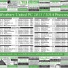 Westbury United Fixture Pullout 2013