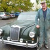 Vehicles from times gone by gather at Bratton pub