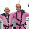 Westbury men's abseil raises over £2,000 for children's cancer charity