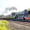 The Flying Scotsman steams through Westbury