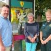 Village celebrates new  lifesaving defibrillator