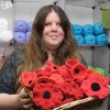 Nearly 2,000 poppies made for war memorial 'yarn bomb'