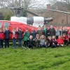 Children 'blown away' by helicopter landing