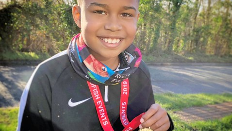Young runner returns to fundraising