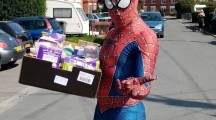Easter hampers delivered by Westbury Town Council…and some super friends