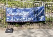Banners call for  climate education reform