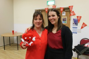 Linda Penney and Alison Adams from British Heart Foundation