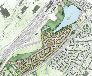 The proposed housing development.